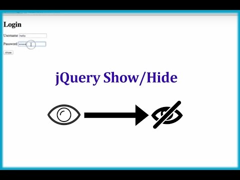 How to Show/Hide Password in TextBox with Button using jQuery