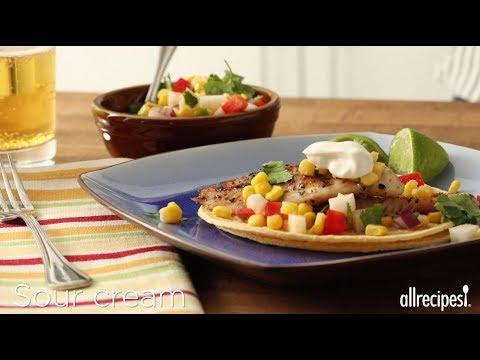 How to Make Fiery Fish Tacos with Crunchy Corn Salsa | Fish Recipes | Allrecipes.com