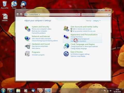 Windows - How To Change The Screen Resoloution