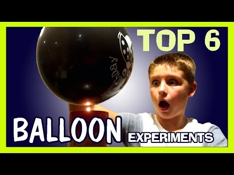 6 AMAZING BALLOON EXPERIMENTS Easy Kids Science Experiments