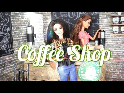 DIY - How to Make a Doll Coffee Shop - Handmade - Doll - Crafts