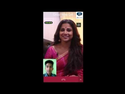 Lucky few Jio Chat users get on a video call with Vidya Balan