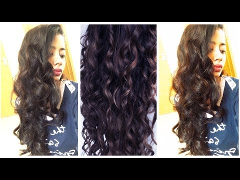 My Overnight Heatless Voluminous Curls for Long Hair using Tshirt 👚