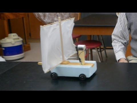 Fan Cart - Blowing into your own Sail (updated)- part 2 // Homemade Science with Bruce Yeany