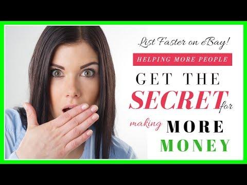 A Secret on how to list on Ebay Faster & Make More Money