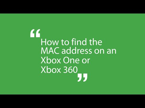 StudentCom - How to find the MAC Address on an Xbox One or Xbox 360