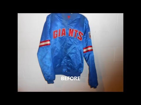 Vintage Satin Starter Jacket Restoration