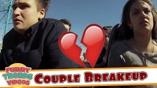 Couple Breaks Up On Roller Coaster  Worst Break up Ever