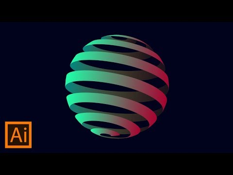 How to Create 3D Globe Spiral | Adobe Illustrator Tutorial