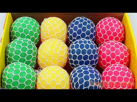 Squishy Slime Mesh Ball Box Playset Ice Cream Cake Learn Colors Baby Toy Kinder Joy Surprise Egg
