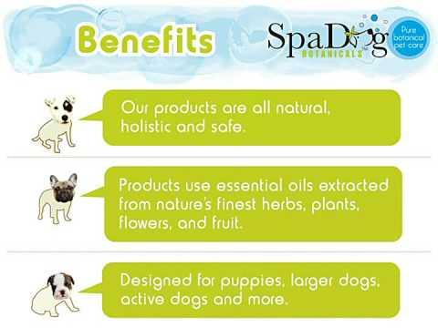 Does your Dog have itchy smelly skin and bad breath?  Spa Dog Botanicals Natural Dog Grooming Care