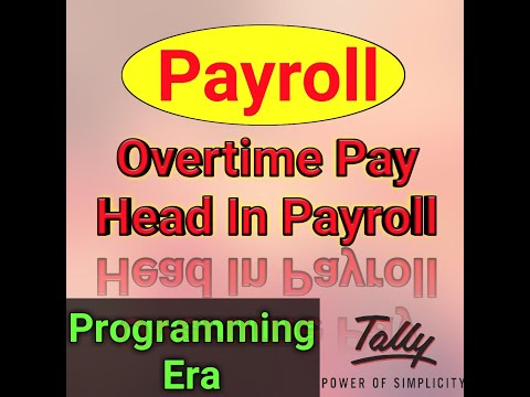 Payroll With Overtime In Tally ERP 9