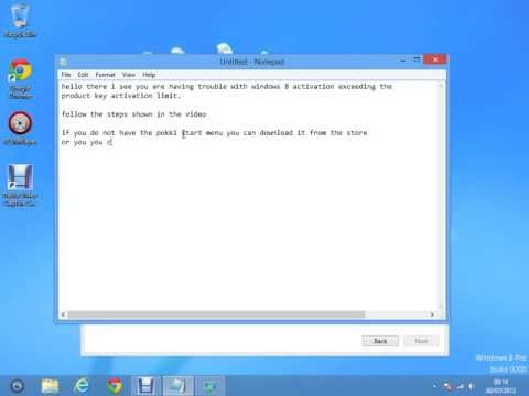windows 8 how to enter product key after you have exceeded the activation limit