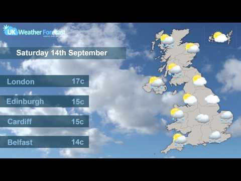 UK National Weather Forecast - Saturday 14th & Sunday 15th September 2013