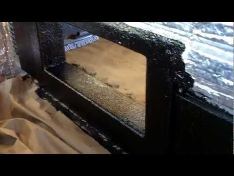 silverado subwoofer blow through build vlog 9!!bed liner!!