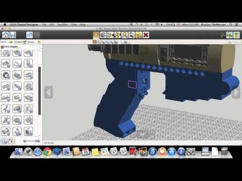 Custom Lego Gun MOC: AR-15 Styled Lower Receiver Timelapse