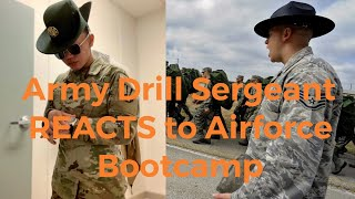 ARMY Drill Sergeant Reacts To Air Force BOOT CAMP