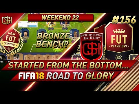BRONZE BENCH TO GET YOU LOWER OPPONENTS WORK? FIFA 18 ROAD TO GLORY #156 I #FIFA18 ULTIMATE TEAM RTG