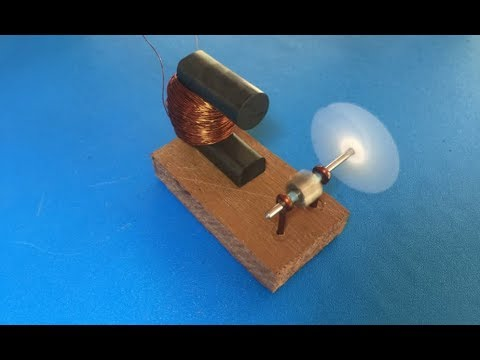 5000RPM motor , experiment how to make 15v AC motor very easy , very fast motor