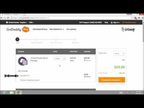 How to buy VPS Server  (  godaddy.com ) walkthrough