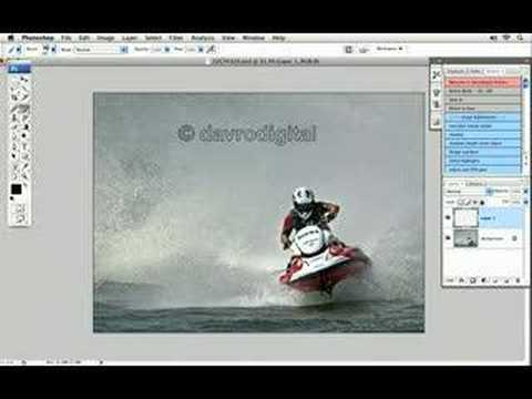 Creating a copyright brush in Photoshop