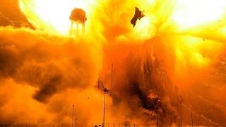 Remote Camera Footage of Antares Rocket Explosion