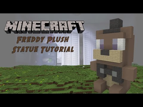 Minecraft Tutorial: Freddy Plush Toy (Five Night's At Freddy's) Statue