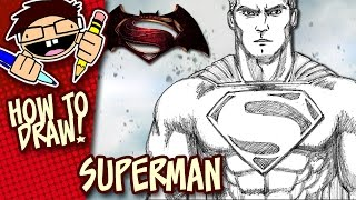 How To Draw Superman Batman V Superman Dawn Of Justice Step By Step T