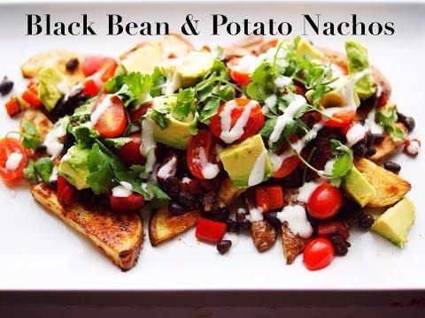 Black Bean & Potato Nacho Plate