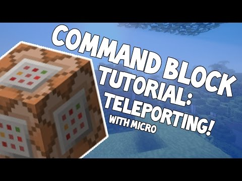 Command blocks for beginners: Teleportation | minecraft command block tutorial