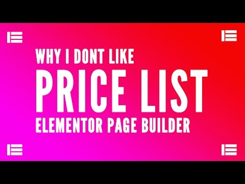 Why I Dont Like Price List Element of Elementor Page Builder For Wordpress