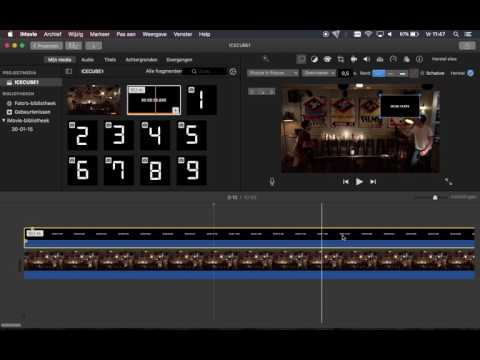 Screencast: How dou you put a stopwatch over your video in iMovie?