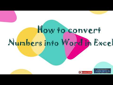 how to convert number into word in excel  indian rupees