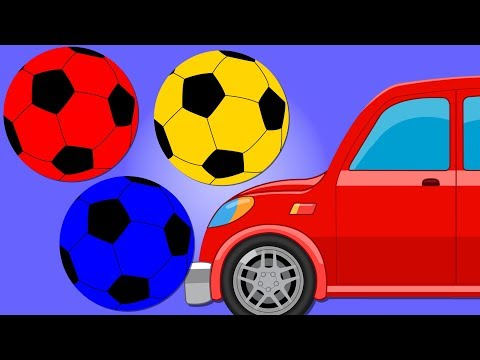 Car Cartoon | Soccer Balls Colors | Learning Video for Kids and Babies
