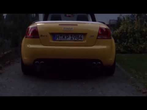 Audi RS4 B7 Cabrio ABT exhaust sound V8 4.2 open valves