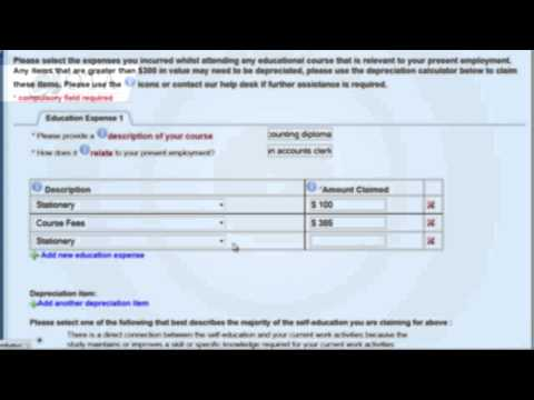 Tax Tips - Self Education Expenses / Online Tax Australia