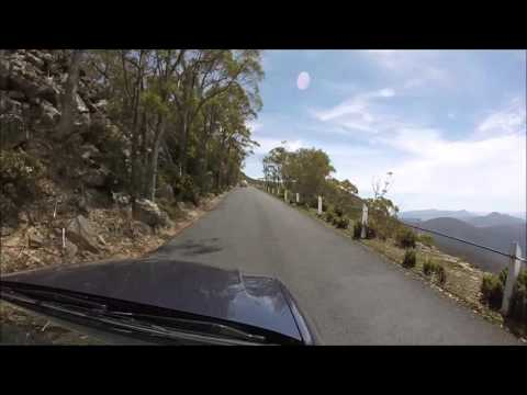 Driving up to Mt Wellington, Hobart, Tasmania