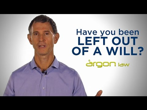 Have you Been Left Out of Someone's Will? | Legal Advice from a Sunshine Coast Lawyer | Argon Law