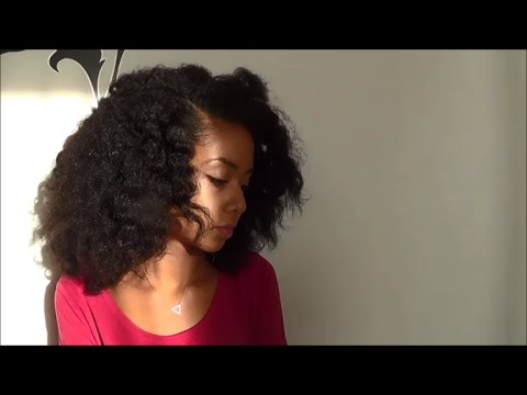 How to-  Quick big & fluffy braid out