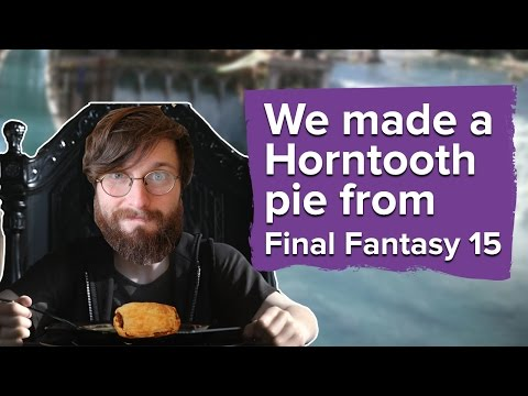 We made a horntooth pie from Final Fantasy 15
