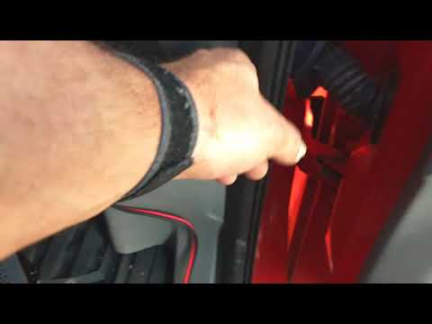 How to pull a wire through a door boot car audio