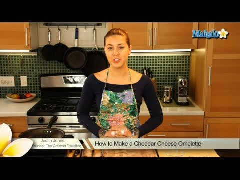 How to Make a Cheddar Cheese Omelette