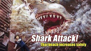 Live: Shark Attack! Thai beach increases safety泰国惊现鲨鱼袭击人类事件
