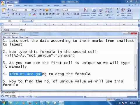 How to Count the Number of Unique Values in a List in Microsoft Excel