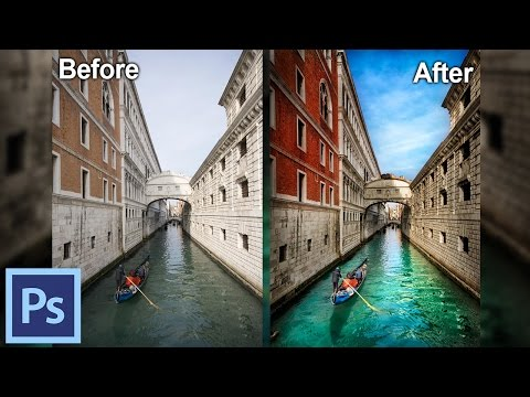 How to Process Photos in Photoshop - Example: The Canals of Venice I | Photoshop Tutorial