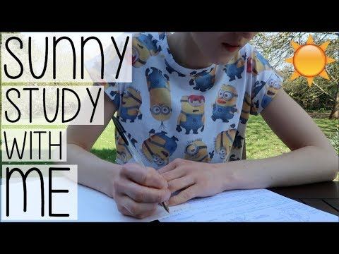 SUNNY OUTDOOR STUDY WITH ME | EXAM REVISION + MOVING BACK TO UNI VLOG AD