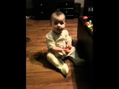 Edan crawls and plays