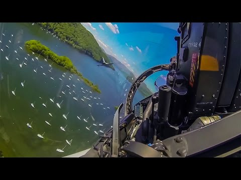 Amazing Flying the RAF Eurofighter Typhoon Through the Mach Loop at Low Level over UK. Cockpit View.