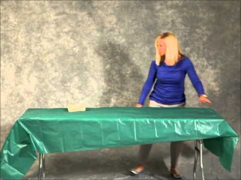 How To Put on a plastic table cover
