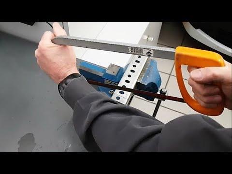 Como cortar hierro con sierra de mano por primera vez con seguridad.